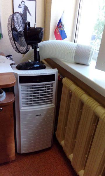 Мобильный кондиционер - шумный, но хорошо выручает в жару
